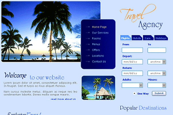20 Best Free Travel Website Template 18