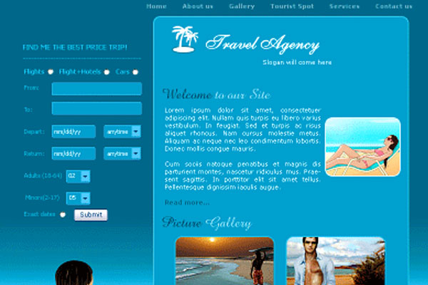 20 Best Free Travel Website Template 20