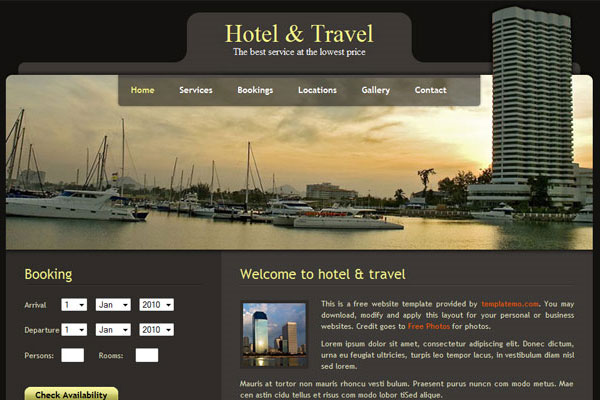 20 Best Free Travel Website Template 7