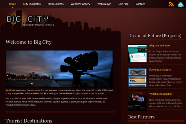 20 Best Free Travel Website Template 9