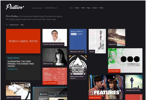 40 Impressive Grid based Web Designs for Inspiration 2