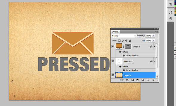 Creating a Letterpress Effect Using Text and Shapes 7