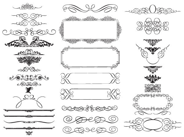 20 Free Set of Ornaments Vector Resources 1