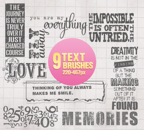 Free Resource: Text Brushes for Designers 5