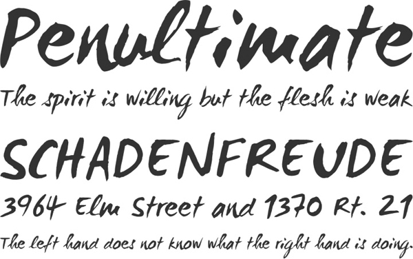 25 Free Brush Fonts For Designers 23
