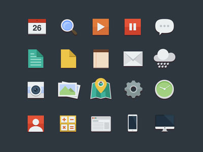 30+ Latest Free Flat Icon Sets For Your Use 24