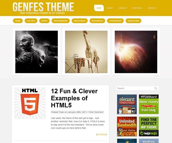 25 Free High Quality WordPress Themes 9