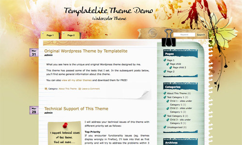 25 Free High Quality WordPress Themes 11