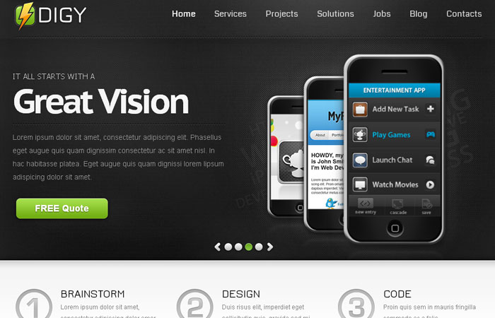20 Free Responsive High Quality HTML/CSS Website Template 9