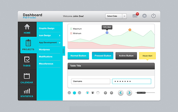 20 New Useful Free PSD Templates for Designers 12