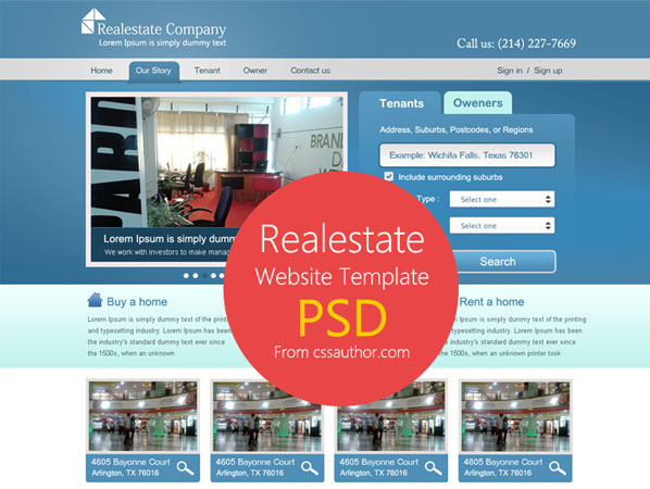 20 Beautifully Designed Free PSD Website Template 13