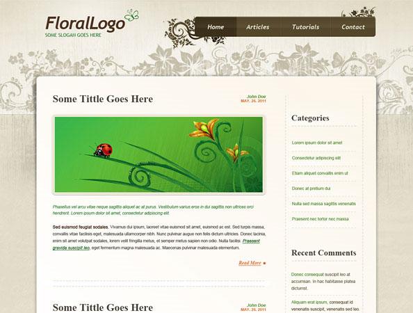 20 Beautifully Designed Free PSD Website Template 14