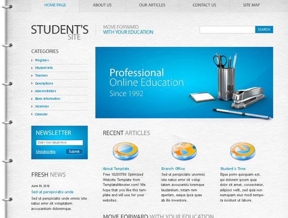 20 Beautifully Designed Free PSD Website Template 15
