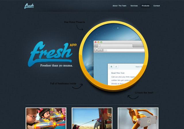 20 Beautifully Designed Free PSD Website Template 3
