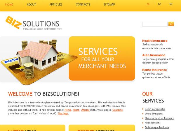 20 Beautifully Designed Free PSD Website Template 6