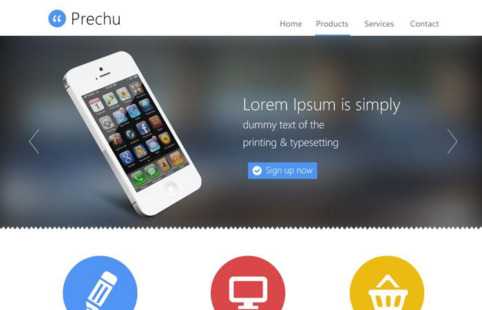 20 Beautifully Designed Free PSD Website Template 8