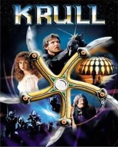 "Krull movie poster featuring the ""glaive"""