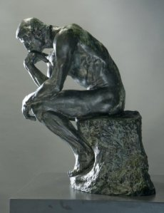 the thinker by Rodin