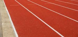 empty running track