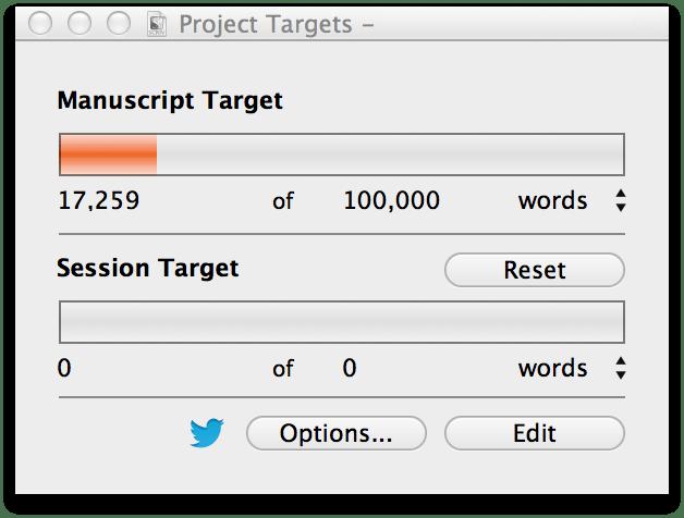 scrivener word count tracker