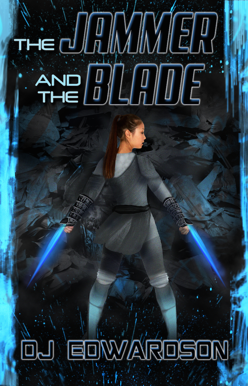 jammer and the blade - science fiction book cover - dj edwardson