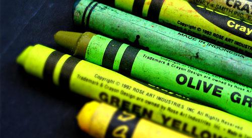 green crayons