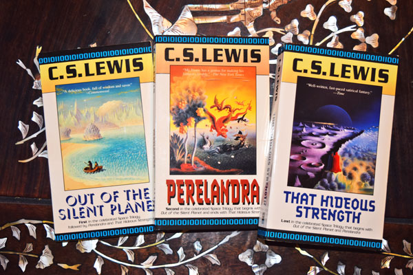 space trilogy book covers cs lewis