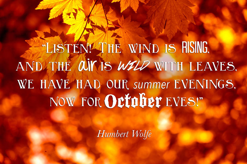 october quote humbert wolfe