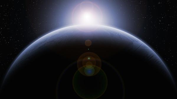planet horizon space