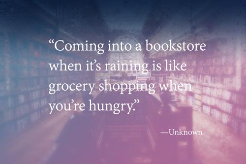 Quote: book stores and rainy days - djedwardson.com