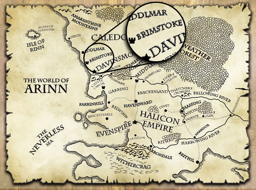 last motley map world of arinn brimstone