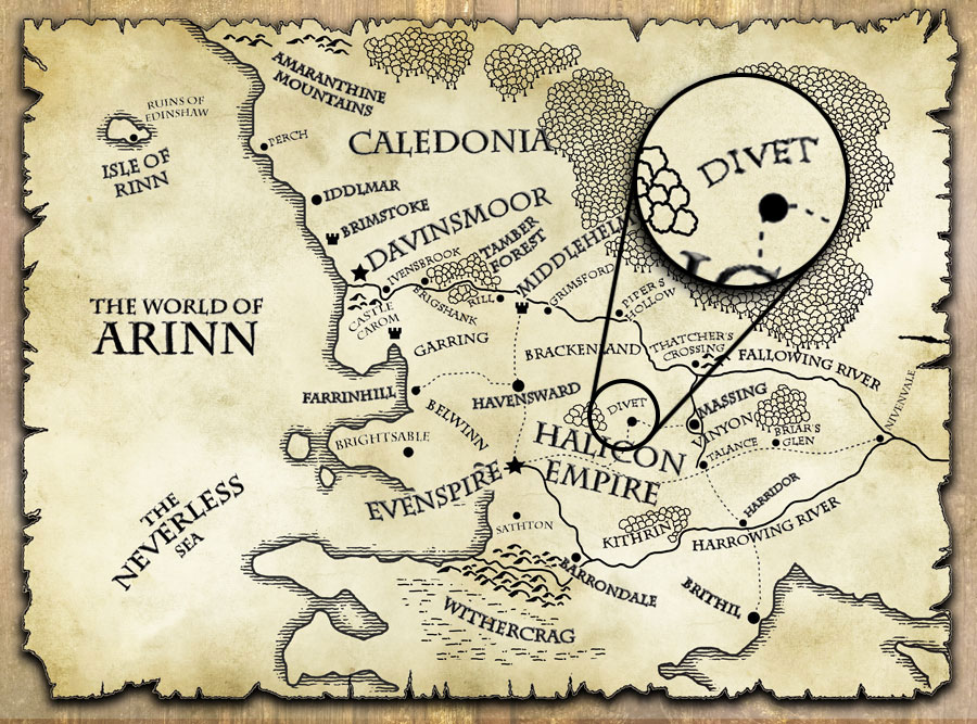 last motley map world of arinn divet
