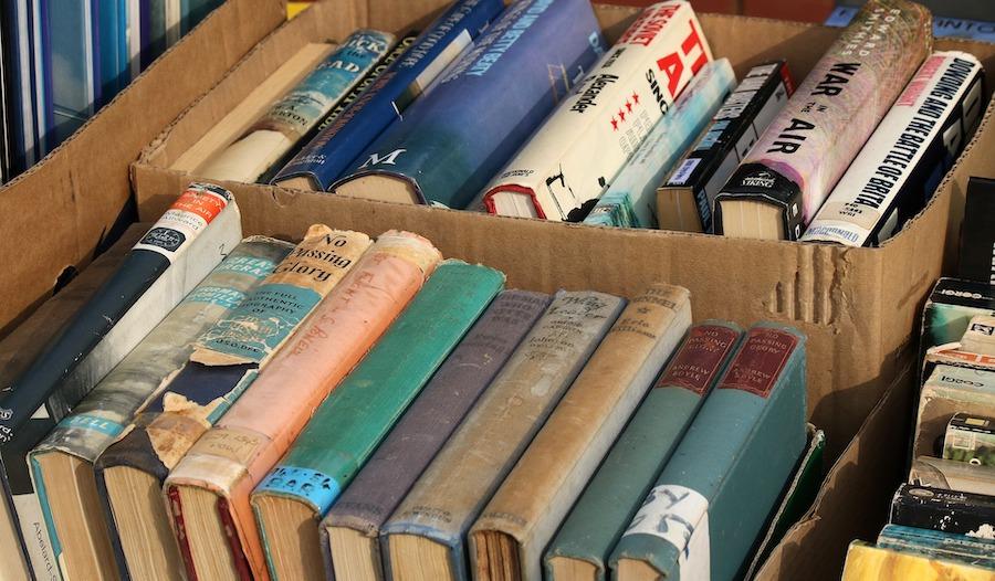 second hand books box
