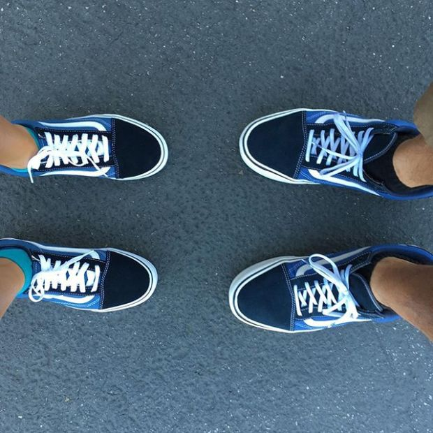Day 22/31 of #31daysofvans.  Classics for my sweetie and I.  #underthepalms #strictlywaffles
