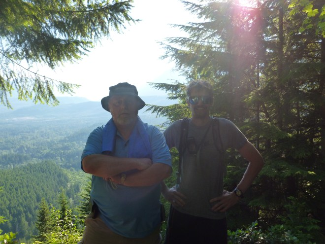 Rick and Derek on the summit of Cedar Butte