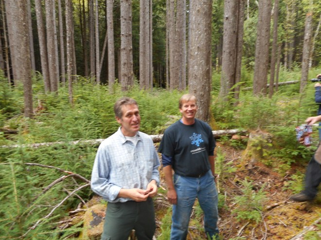 Rolf Gersonde (l) and Bill Richards our forest ecology teachers