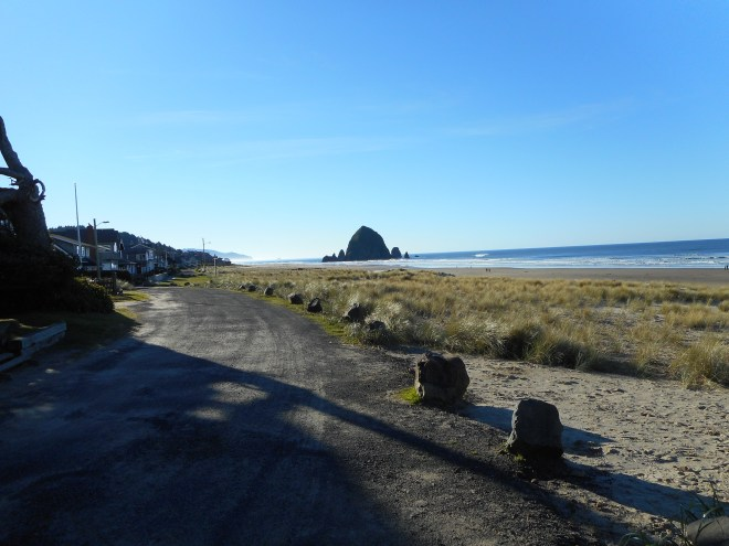 View of Haystack Rock from the north