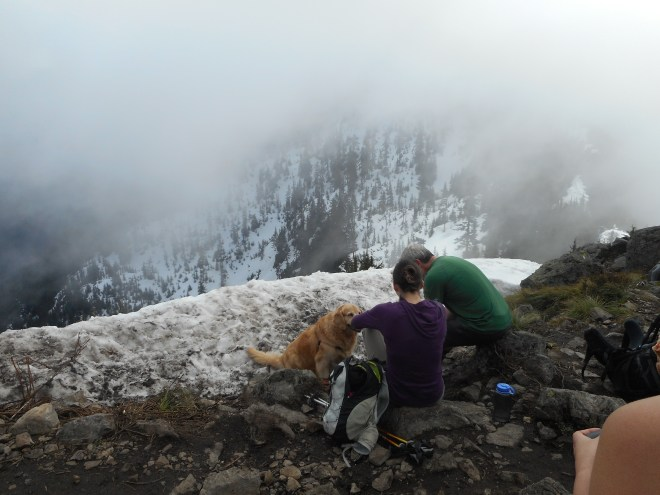 Golden on the summit