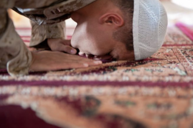 Muslim chaplain ministers at Camp Leatherneck during Ramadan
