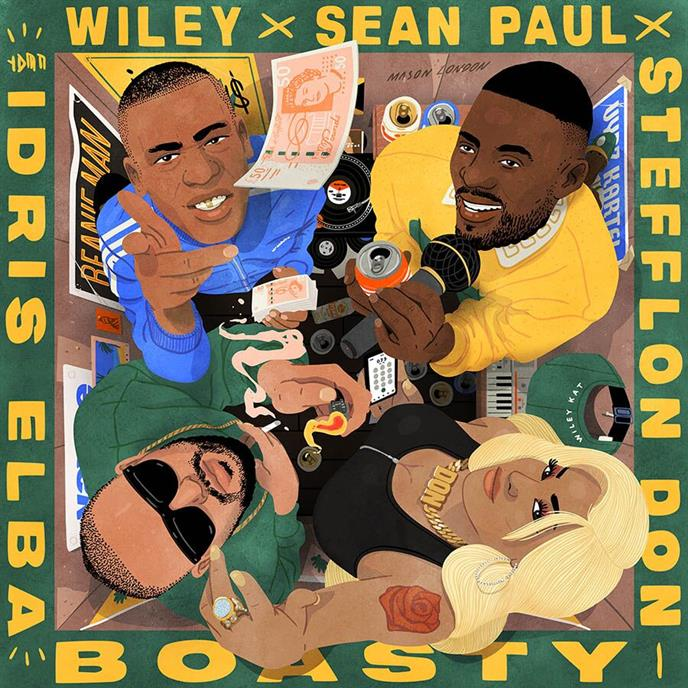 BMG's Boasty Featuring Wiley, Idris Elba, Sean Paul, And Stefflon Don Invades The Us After Being Certified Silver In The UK