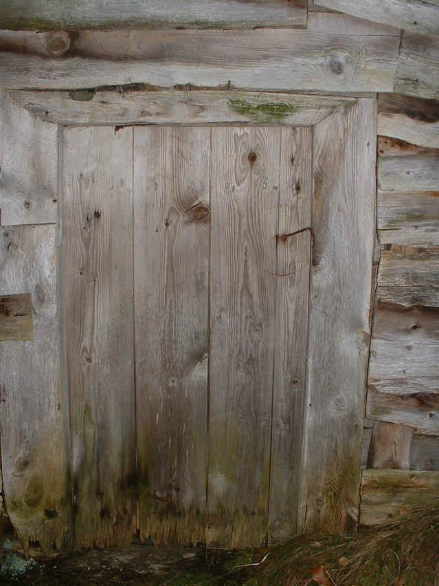 Door of shed