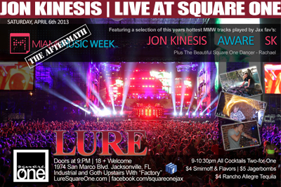 Jon Kinesis Miami Music Week Aftermath Square One 04.06.13