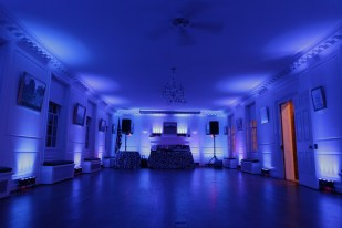 16 Chauvet Freedom Strip LEDs used by DJ Maskell to uplight River Farm in Alexandria Virginia
