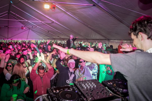 DJ stage at Shamrockfest: a Gallery
