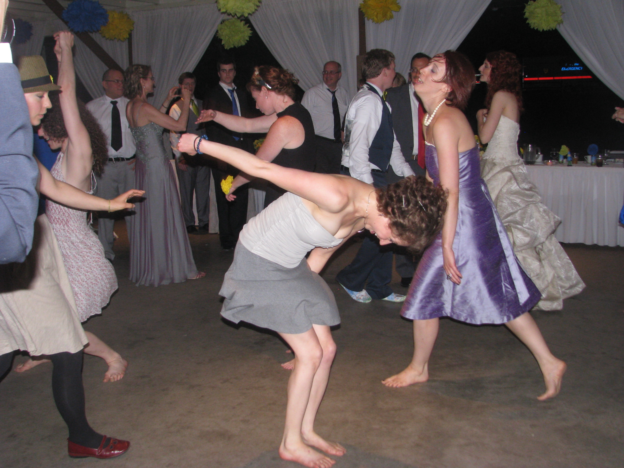 Wedding Dancing Barefoot