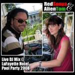 Red Alien Pool Party