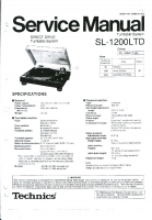 » Downloads › Technics SL1200 LTD Service Manual