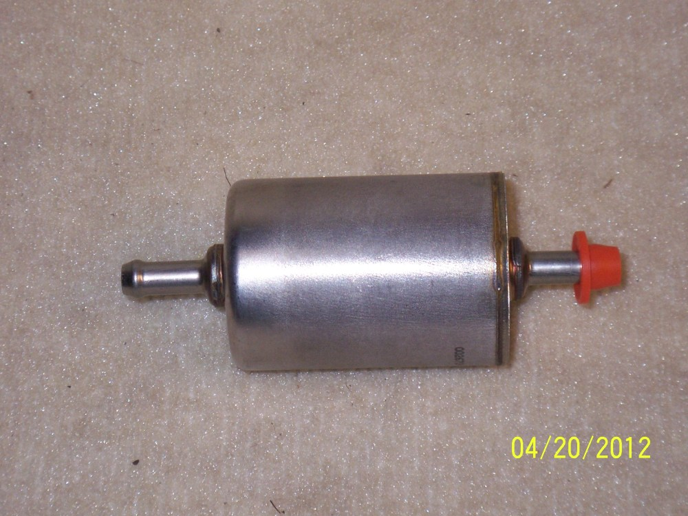medium resolution of in line fuel filter these are fuel injection fuel filters with 3 8 fitting in and out that i install just forward of the tank selector valve and