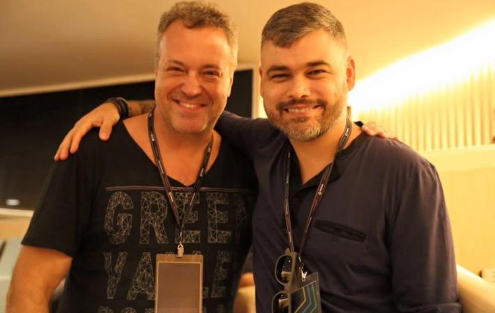 Rodrigo Vieira e Leo Janeiro