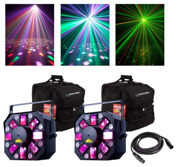 american dj stinger ii 3 fx in 1 lighting effects with bags package
